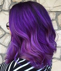 purple balayage hair
