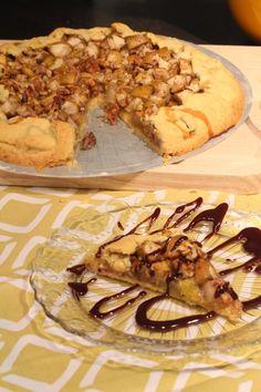 Birnen-Tarte mit Walnüssen und Honig