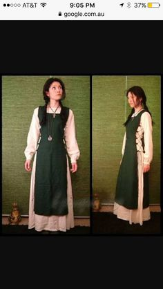 Sinnia Dress with green kirtle