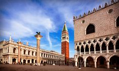 Columns, Campanile and Doge's Palace on St. Mark's Square - Venice