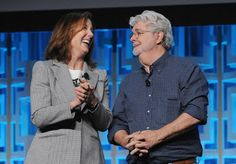 """Kathleen Kennedy On Star Wars Original Theatrical Cuts - """"I wouldn't touch those! Celebration Orlando, Star Wars Celebration, Kathleen Kennedy, George Lucas, Steven Spielberg, Amazon Prime Video, Indiana Jones, Long Time Ago, Behind The Scenes"""