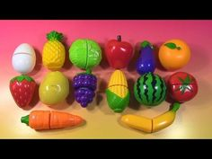 Velcro Fruits & Vegetables Velcro Toys Names of Fruits & Vegetables Toy Toy Cutting Playset - YouTube