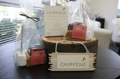 "camping party favor idea ""Take home s'more fun!"""