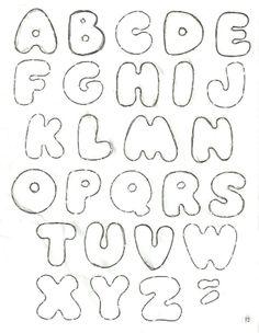 A P@z do Senhor!  Seguem os moldes de mais alguns alfabetos. Estes eu encontrei no blog http://jardimcoloridoeva.blogspot.com.br .