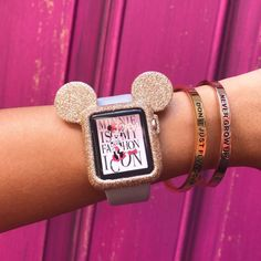 handmade gold glitter painted Apple Watch case