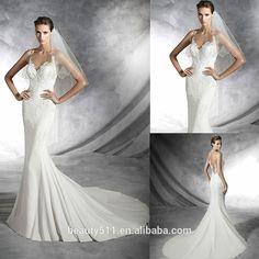 Modesto 2016 memraid sexy senza maniche scoop illusione pavimento posteriore- lunghezza pizzo bianco abito da sposa abiti da sposa wd16-4