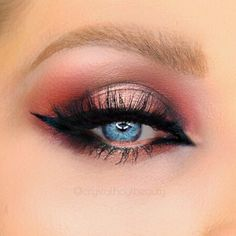 """Exotic Red Halo Eyeshadow Look   Sexy Valentines Day Makeup Look   Dramatic Eye Look   Arab Inspired Eye Makeup   Too Faced x Kat Von D """"Better Together"""" Palette Tutorial"""