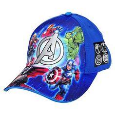 Avengers Baseball Hat Blue One Size Girls Characters 4f6dd7f77637