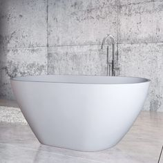 The Emily bath is full of volume yet takes up a minimal amount of space. A modern design with natural lines - sleek, deep and spacious. Contemporary Bathtubs, Natural Line, Minimalism, Modern Design, Deep, Space, Floor Space, Contemporary Design, Spaces