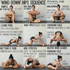 29 mentions J'aime, 1 commentaires – food_fit_ (@food_fit_easy) sur Instagram : « 'WIND DOWN' HIPS SEQUENCE By: @roxanne_yoga Stretching at night can help your muscles relax and… »