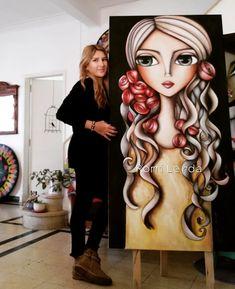 Diy abstract heart painting and a fun paint party – Artofit – BuzzTMZ Pop Art Face, Cubism Art, Art Corner, Hippie Art, Whimsical Art, Love Art, Art Girl, Amazing Art, Watercolor Art