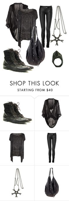 """""""Untitled #111"""" by black-string-boutique ❤ liked on Polyvore featuring MA Julius, AllSaints, Balmain, Evil Twin, Religion Clothing and Lady Grey"""