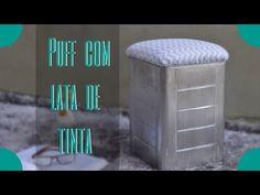 Puff Com Lata de Tinta - DIY - YouTube