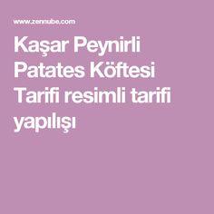 Kaşar Peynirli Patates Köftesi Tarifi resimli tarifi yapılışı