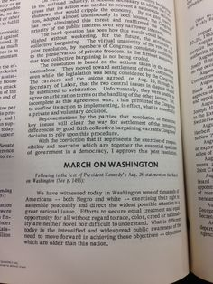 Following is a test of President Kennedy's Aug. 28 statement on the March on Washington. From #CQ for the week ending Aug. 30, 1963. #civilrights #mow50 #marchonwashington
