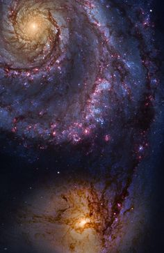 M51 (Whirlpool Galaxy)  The Whirlpool Galaxy is an interacting grand-design spiral galaxy with a Seyfert 2 active galactic nucleus in the constellation Canes Venatici.    Credit: Emil Ivanov