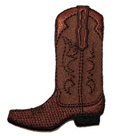 ID #1348 Brown Western Cowboy Riding Boot Embroidered Iron On Applique Patch Cool-Patches http://www.amazon.com/dp/B00JH7W1CW/ref=cm_sw_r_pi_dp_a6xTub1MGDDMC