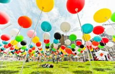 playscapes: fields of balloons. love the idea of colour. is there something we could use that would be much more permanent than balloons??.