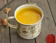 This anti-inflammatory vegan turmeric milk with tahini is ultra-creamy--and the perfect cozy fall health drink. By Molly Lansdowne.