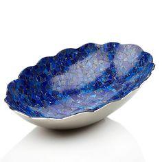Jay King Lapis Mosaic Scalloped-Edge Bowl, 400 bucks, #220-936