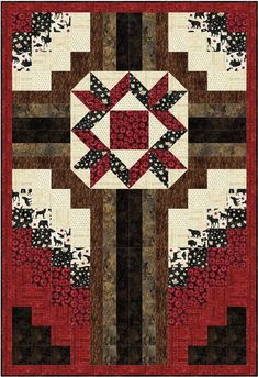 The Old Rugged Cross Quilt Pattern. Quilt of Valor Valour Northcott Timeless Treasures Quilt Square Patterns, Beginner Quilt Patterns, Cross Patterns, Square Quilt, Old Rugged Cross, Cross Quilt, Table Topper Patterns, History Of Quilting, Quilt Of Valor