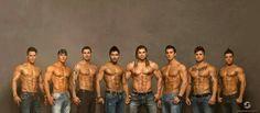Men of LaBare. Adonis, Brett, David, Brandon, Axl, Jason, Vann, & Cesar.  Photo by Jay Fuertez