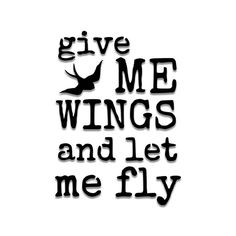 Give Me Wings and Let Me Fly Bird Stencil-- Matte Mylar Stencil. Great for stenciling on fabric, paper, and walls!