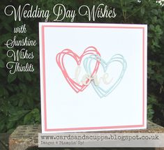 Sarah-Jane Rae cardsandacuppa: Stampin' Up! UK Order Online 24/7: Wedding Day WIshes using Swirly Scribbles and Sunshine Wishes Dies By SU!