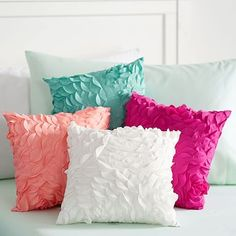 the light pink one Pretty Petals Pillow Cover #pbteen
