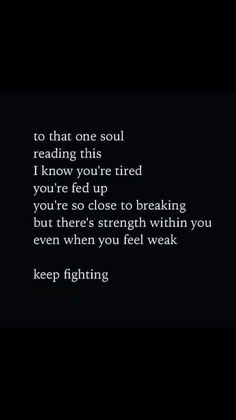 To that one soul