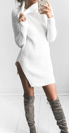 Chunky knit dress