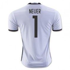 Tyskland 2016 Goalkeeper Neuer 1 Hemmatröja Kortärmad