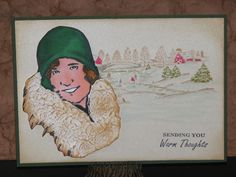 Warm Thoughts - Winter Card - Just For Fun Rubber Stamps
