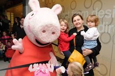 Justin Fletcher joined Peppa Pig and guests to turn on the Woking Christmas Lights #Woking #Shopping #Surrey #Christmas #JustinFletcher #ChristmasLights