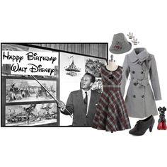 """Happy Birthday, Walt Disney! ºoº"" by ktdesigns-1 on Polyvore"