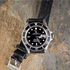 Stealth Mode: The Always Cool Rolex Submariner in Stainless. #rolex