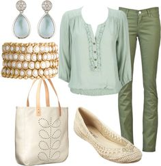 """Green and Blue"" by miranda7rose on Polyvore"
