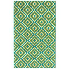 Shaw Living, Jacqui Turquoise 7 ft. 10 in. x 10 ft. 6 in. Indoor/Outdoor Area Rug, 3K38404400 at The Home Depot - Tablet $159