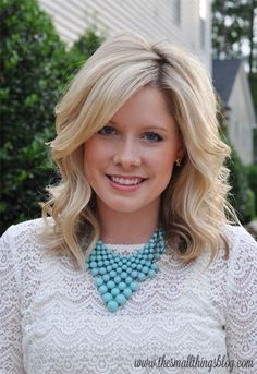 Blonde Wavy Hairstyle for Women - Medium Length Haircuts 2015