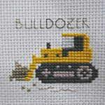 bulldozer Cross Stitch Sea, Cross Stitch Borders, Cross Stitch Patterns, Scroll Saw Patterns Free, Baby Knitting Patterns, Stuffed Toys Patterns, Needlework, About Me Blog, Embroidery