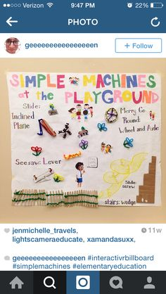 Simple Machines on the playground. Found on Instagram.