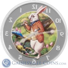 Alice in Wonderland http://www.gainesvillecoins.com/category/48/oceania-silver-coins.aspx