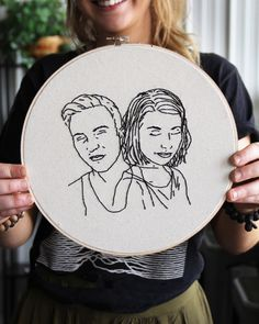 https://www.etsy.com/shop/stitchfolks    Finally finished!! Question: What do you all think, could this style work as a children's  portrait? Or wedding? Any other ideas pop into your head?