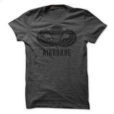 U.S. Army Airborne Paratrooper Jump Wings T Shirt - #vintage t shirts #customized hoodies. PURCHASE NOW => https://www.sunfrog.com/LifeStyle/US-Army-Airborne-Paratrooper-Jump-Wings.html?id=60505