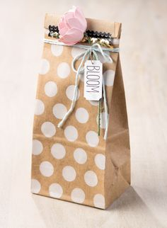 Love this adorable gift packaging.
