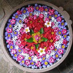 Mandala Pattern made with flowers