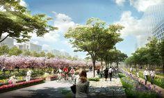 Xuhui Runway Park   Shanghai, China   Sasaki Associates #china #park #concept #plan #landscape #urban #design