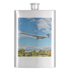 Concorde Flask Eight Ounce (8 oz.) Stainless Steel Classic Flask, makes a great aviation gift for all occasions