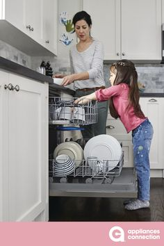 24 Inch Built In Dishwasher with 2 Wash Cycles, 12 Place Settings, Hard Food Disposer, UL Certification in Stainless Steel Cool Kitchen Appliances, Cleaning Appliances, Best Appliances, Built In Dishwasher, Kitchen Storage Solutions, Energy Saver, Place Settings, Kitchen Hacks, Luxury Homes