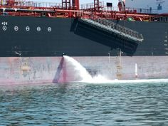 Ballasting and de-ballasting is a process by which sea water is taken in and thrown out of the ship's dedicated ballast tanks in order to ensure the stability of the ship.
